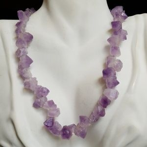 Beautiful Healing Amethyst Nugget Necklace NWT